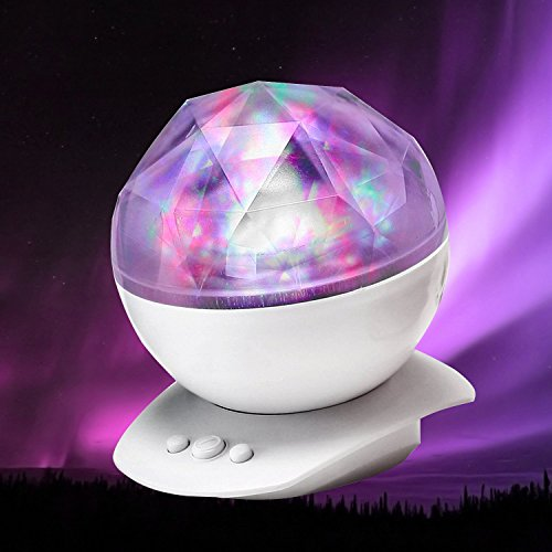 2 In 1 Color Changing Led Night Light Lamp Aurora Star