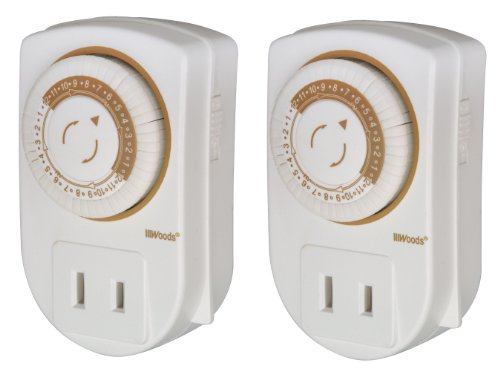 Woods 50006 Indoor 24-Hour Mechanical Outlet Timer, 2-Pack Reviews