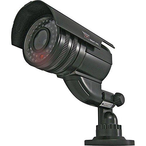 Wireless Indoor/Outdoor Decoy Bullet Surveillance Camera with Flashing LED Light – Black