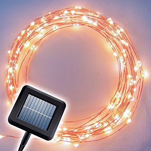 "The Original Starry Solar String Lights by Brightech – Warm White LED's on a Flexible Copper Wire – 20ft LED Light String Set with Solar Panel – Your Easy Way to Create ""Instant Atmosphere"" Anywhere. Recreate the Casual, Inviting Ambience of the Wine Country in just Minutes. Reviews"