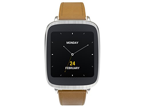 ASUS Zenwatch Wearable Tech with Light Brown Leather Strap – Retail Packaging – Silver/Rose Gold Layering Reviews
