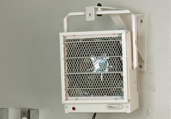 NewAir G73 electric garage heater in garage