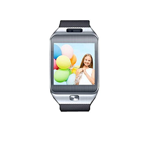 Smart(BT) Watch Bluetooth Smart Watch Android System SmartPhone Touch Screen Camera Smartwatch(Silver)