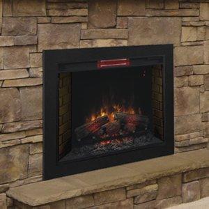 ClassicFlame 33-Inch Infrared Fireplace Insert & Flush Mount Conversion Kit – 33II310GRA-BBKIT33