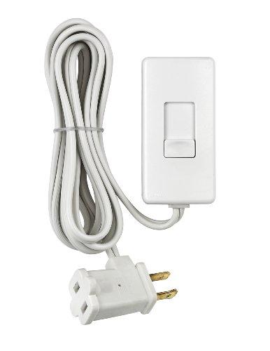Leviton TBL03-10W 300-watt Tabletop Slide Control Lamp Dimmer, White