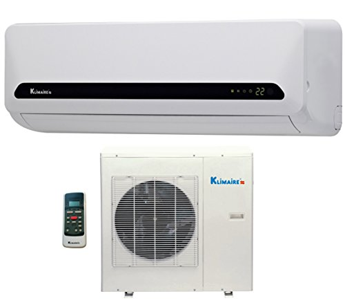 18,000 Btu Klimaire 15 SEER Ductless Mini Split – DC Inverter Air Conditioner & Heat Pump System – 220 Volt with Free 16 Feet Quick Installation Kit