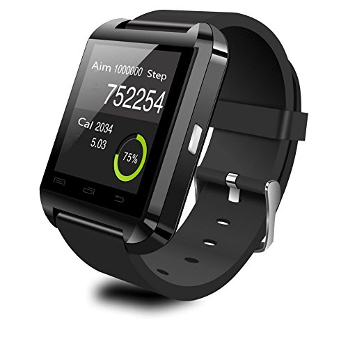 Geekbuying U8 Bluetooth Smart Watch Perfect fit for Android Smartphone Galaxy S5/S4/S3 Note3/Note2, HTC, Motorola, LG – Only Basic function for iPhone 5S/5C/5/4S/4