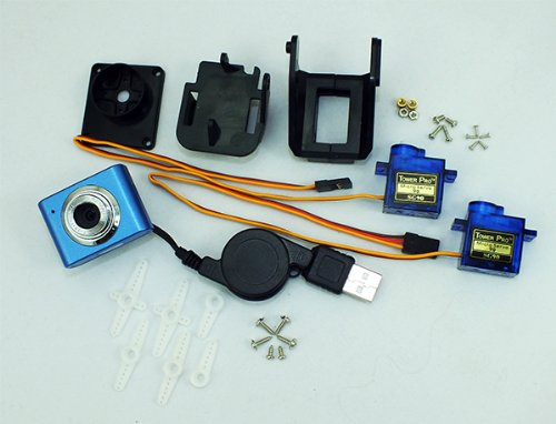 Web Cam 3-axis Servo Kit for Real Time Video for pcDuino