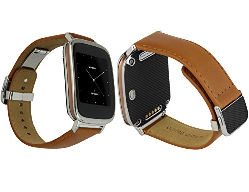 Skinomi® TechSkin – Asus ZenWatch Screen Protector + Carbon Fiber Full Body Skin Protector with Free Lifetime Replacement Warranty / Front & Back Wrap / Premium HD Clear Film / Ultra High Definition Invisible and Anti-Bubble Crystal Shield – Retail Packaging Reviews