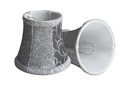 LightingCraft Clip-On Fabric Lamp Shades, Set of 2, 3.15*4.72*4.33 inch