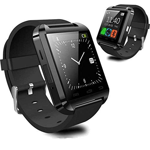 Powerlead U8 Bluetooth 4.0 Smart Wrist Wrap Watch Phone for Smartphones IOS Android Apple iphone 5/5C/5S/6/6 Puls Android Samsung S3/S4/S5 Note 2/Note 3 Note 4 HTC Sony (Black)