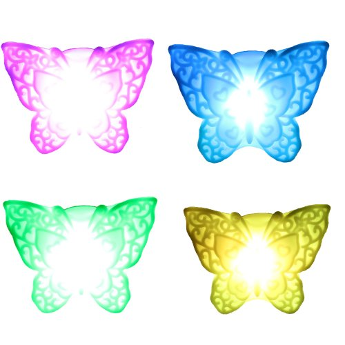 ZTDM 5 PCS of 7 Color Changing Romantic Butterfly LED Night Light Christmas Wedding Party Decor Lamp