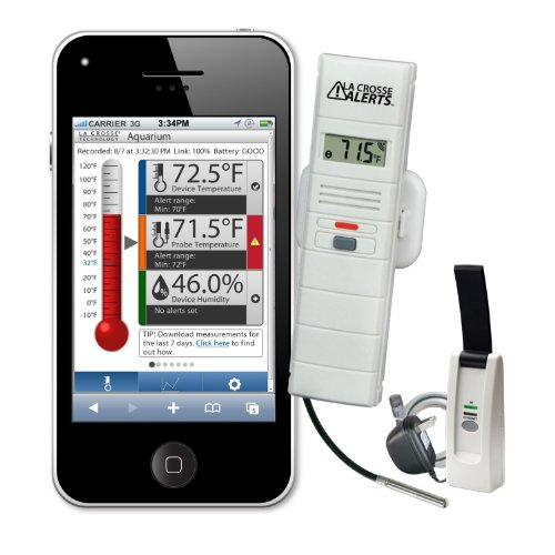 La Crosse Technology Temperature and Humidity Remote Monitor System with Wet Probe