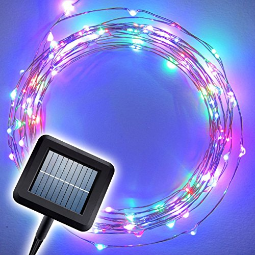 "The Original Starry Solar String Lights by Brightech – Multi-Color LED's on a Flexible Copper Wire – 20ft LED Light String Set with Solar Panel – Your Easy Way to Create ""Instant Atmosphere"" Anywhere"