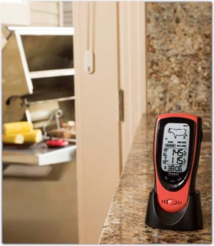 Wireless thermometer operates up to 330 feet away