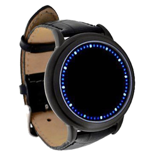Flylinktech® Blue LED Touch Screen Watch Abyss Hours&Minutes Display Smart Design
