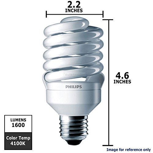 Philips 414060 – EL/mdT2 23W 4.1K Twist Medium Screw Base Compact Fluorescent Light Bulb