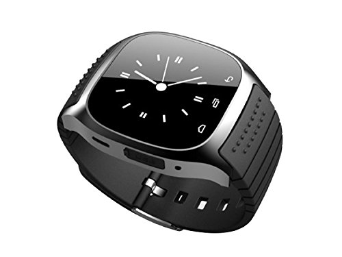 R-Watch Bluetooth M26 SMS Pedometer Anti Lost 1.4 Phone Watch Color:Black