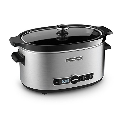 KitchenAid KSC6223SS 6-Qt. Slow Cooker with Standard Lid – Stainless Steel