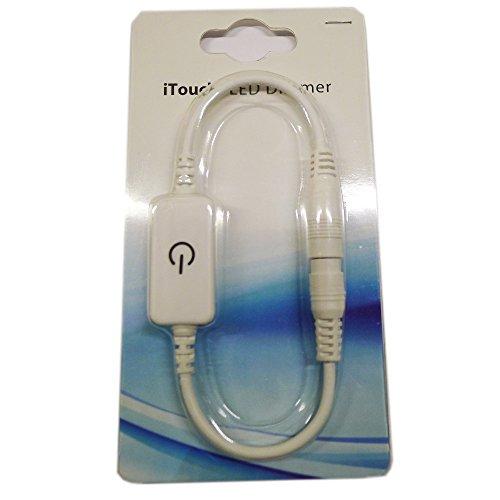 LEDENET® White iTouch LED Dimmer Controller Touch Control Dim DC 12V 4A 48W 24V 96 Watt LED Cabinet Light, LED Rigid Bar, LED Strip Lamps and LED Panel Lighting (White Plastic 4A)