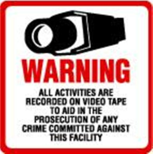 NEW! INSIDE MOUNT 2 Pack #204-IM Commercial Grade Outdoor / Indoor Security Surveillance CCTV Video Warning Decal – 4″x 4″ Reviews