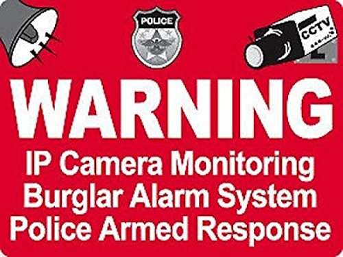 Surveillance Security Camera Warning Stickers Signs Police Dispatch CCTV 4pcs