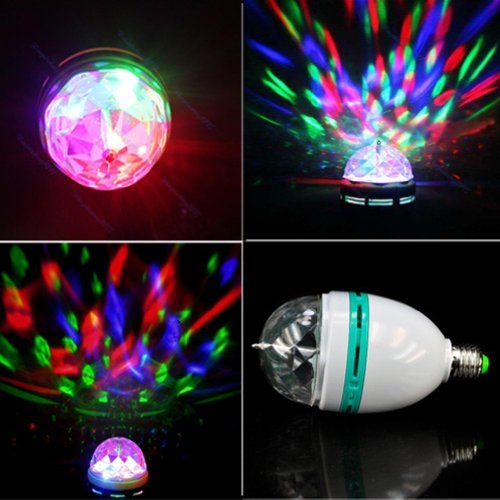 Xl-14s Sound Control RGB Crystal Ball Effect Light E27 LED Rotating Stage Lighting for Disco Dj Party Reviews