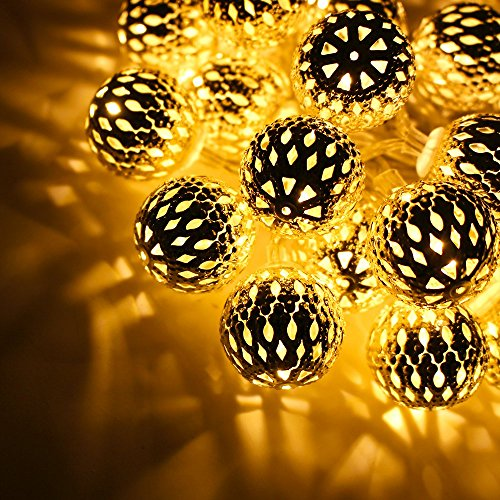29ft Hollow Ball Led Christmas String Lights W Power