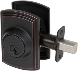 Delaney Italian Collection 372007 Deadbolt – Single Cylinder, Edged Bronze