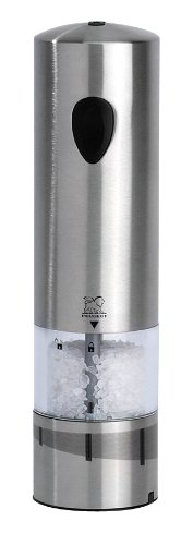 Peugeot 23232 Elis Electric 8 Inch Rechargeable U'Select Salt Mill, Stainless Steel Reviews