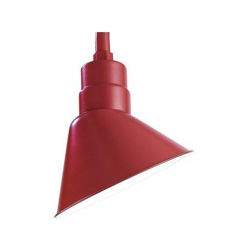 R Series 1 Light Angle Shade Finish: Satin Red