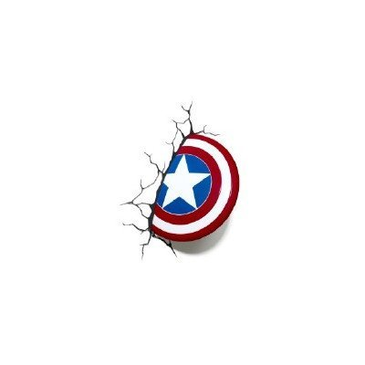 3d light fx marvel captain america shield 3d deco led wall light 3d light fx marvel aloadofball Image collections