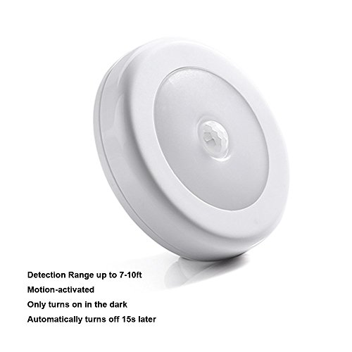 Bathroom Lighting Motion Sensor: 4 PCS Wireless Motion Sensor Light, LUCKLED Battery