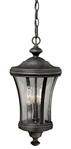 Vaxcel Lighting T0150 Hanover 3 Light Outdoor Pendant, Rust Iron Reviews