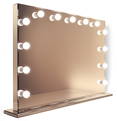 Mirror Finish Hollywood Makeup Mirror with Cool White Dimmable LED lamps k253CW