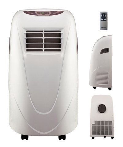 AMICO Power Shinco AP11000 11,000 BTU Portable Air Conditioner with Wireless Remote Control, LED Display w/ Digital Thermostat, High-Efficiency Rapid Cooling, Quiet Indoor Operation High And Low Fan Speeds, Programmable On/Off Timer, Auto funtion, All Around Casters For Maximum Portability, 110V