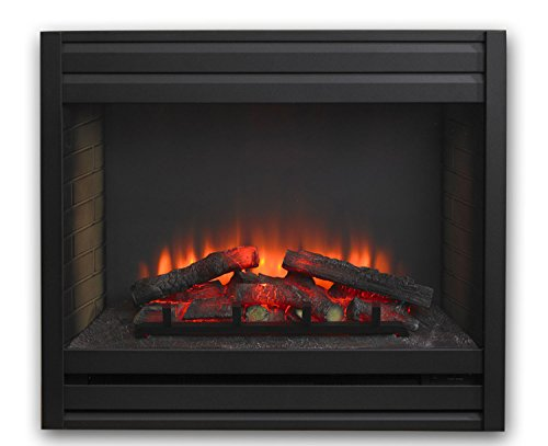GreatCo Gallery Series Built-in Electric Fireplace with Louvered Front, 41-Inch