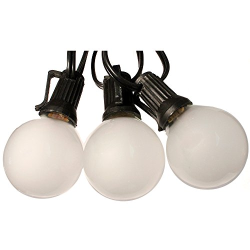 Globe Light Strand Black 25ft Frosted bulbs – Wedding Lights G40 Globe Lights Reviews