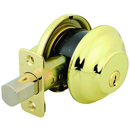 Brinks 4301-105 Maximum Security Single Cylinder Deadbolt, Polished Brass
