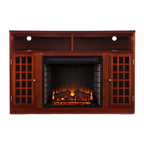 SEI Narita Media Console with Electric Fireplace, Mahogany Reviews