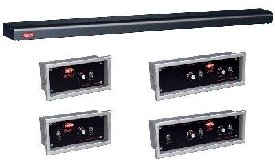 Hatco GRN4-66 BBLACK 66-in Narrow Halogen Foodwarmer, Bold Black, 120 V, Each