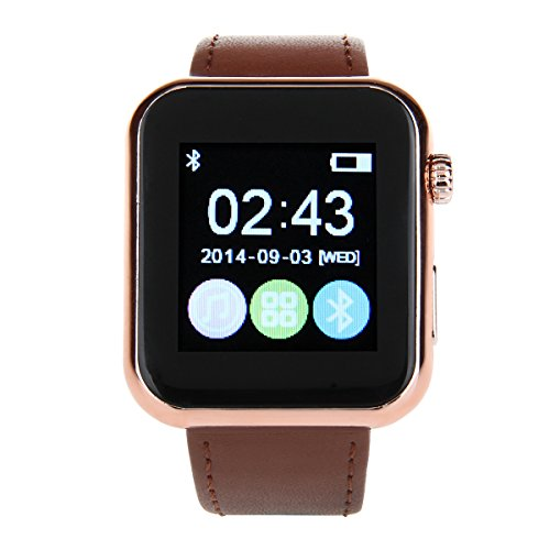 Atongm AW08 1.44 Inch Capacitive Screen Bluetooth V4.1 Smart Watch – Coffee Reviews