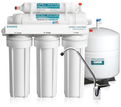 APEC – Top Tier – Built in USA – Ultra Safe, Premium 5-Stage Reverse Osmosis Drinking Water Filter System (ROES-50)