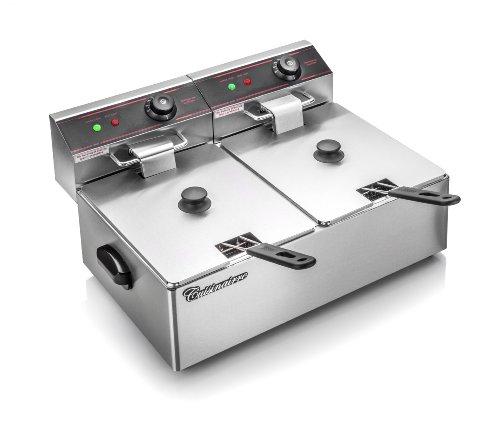 Cuisinairre Dual 6-Liter Commercial Restaurant Grade Stainless Steel Dual Deep Fryer, 6-Liter Reviews