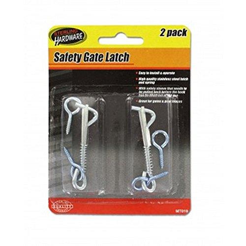 Safety Gate Latch Set for Gates, Pool Fences By Legacy Mc