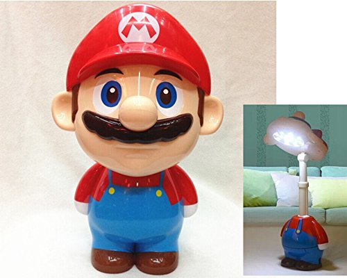 Nichome®Super Mario Cute Cartoon LED Rechargeable Table Light Nightlight Bedside Lamp for Children's Gift (Mario Red)