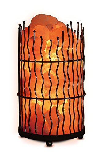 Eco-Friendly 10.43″ H Himalayan Salt Pillar Lamp with Switch Type: Dimmer