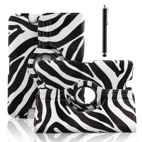TOPCHANCES Black 2013 Kindle Fire HD 7 Inch Case with Auto Sleep and Wake Function and 360 Rotating Stand