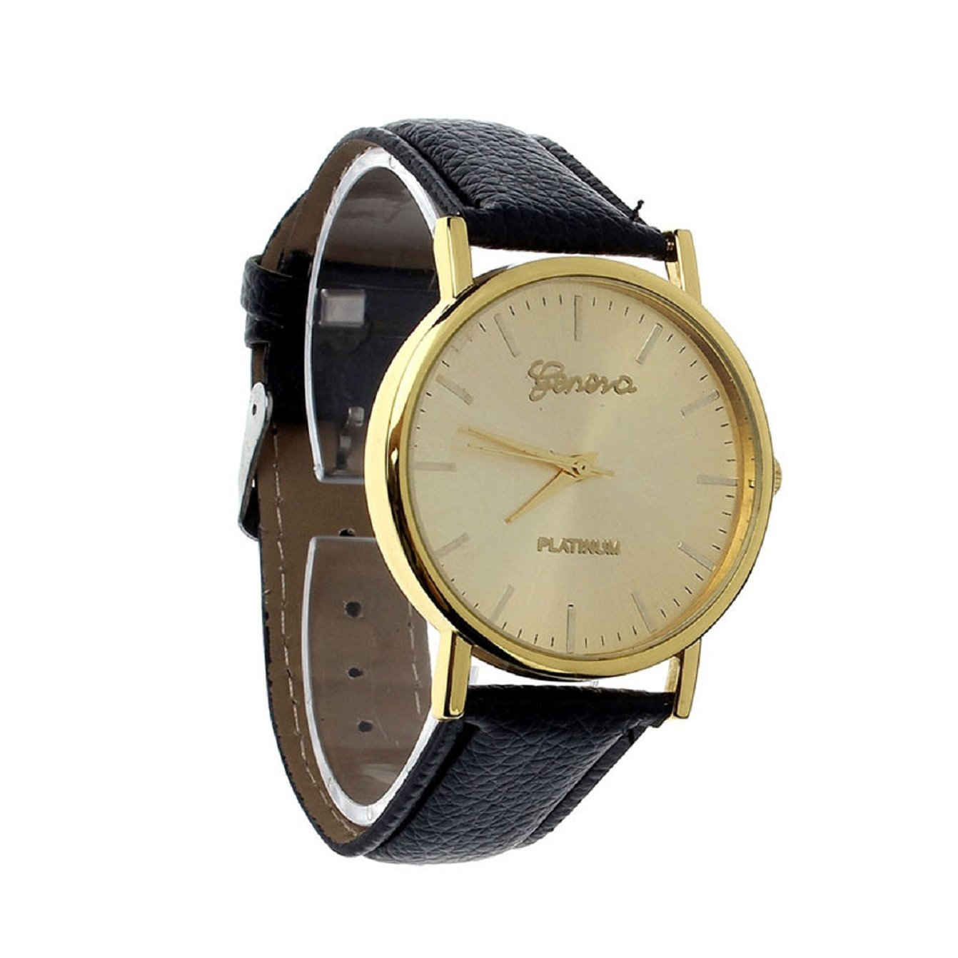 Sannysis Fashion Leather Band Analog Quartz WristWatch Watches