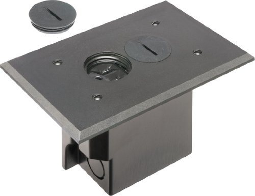 Arlington floor electrical box kit with outlet and plate for Floor electrical outlet
